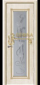 Белый цвет патина золото 3D  фрезеровка, стекло гравировка