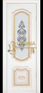 Белый цвет патина золото 3D  фрезеровка, стекло краска