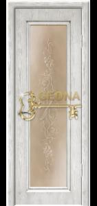 Белый цвет патина серебро 3D фрезеровка, стекло тонированное