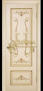 Ваниль матовая патина золото 3D  фрезеровка, глухое