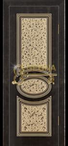 Венге тёмный 26 патина золото 3D  фрезеровка, глухое