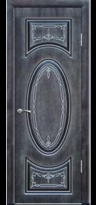 Венге шёлк с серебрянной патиной, глухое