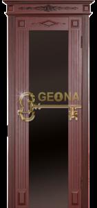 Махагон патина коричневая 3D фрезеровка, стекло триплекс