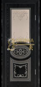Чёрный жемчуг патина серебро 3D фрезеровка, стекло наливной витраж