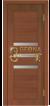Орех итальянский 732, стекло сатин тонированный