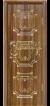 Орех седой светлый патина золото 3D фрезеровка, глухое