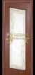 Яблоня тиснёная патина коричневая 3D фрезеровка, стекло гравировка, краска