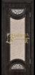 Венге тёмный 26 патина золото 3D  фрезеровка, стекло наливной витраж
