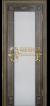 Венге тёмный 26 патина золото 3D  фрезеровка, стекло триплекс