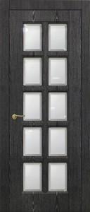 Межкомнатная дверь Авеню 1, чёрное серебро, стекло сатинат с фацетом