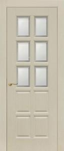 Межкомнатная дверь Геона Авеню 2, ясень патина, стекло сатинат фацет