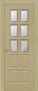 Межкомнатная дверь Геона авеню 2, ваниль, стекло сатинат фацет