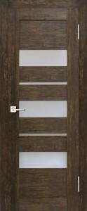 Межкомнатная дверь Геона  L-11, дуб антик, стекло сатинат светлый