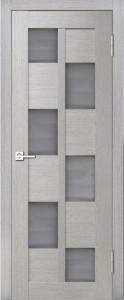 Межкомнатная дверь Геона L-12, ясень дымчатый 785, стекло сатинат бронзовый
