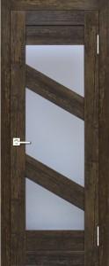 Межкомнатная дверь Геона L-13, дуб антик 11, стекло сатинат светлый