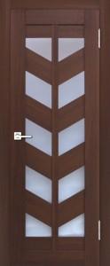 Межкомнатная дверь Геона L-17. орех итальянский 732, стекло сатинат светлый