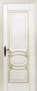 Межкомнатная дверь Оливия 2, 3D фрезеровка патина золото крем