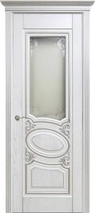 Оливия 1, 3D фрезеровка патина серебро белый цвет, стекло сатинат гравировка