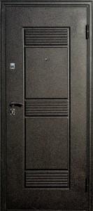 Входная дверь Венеция Покров, чёрный шёлк, штамп