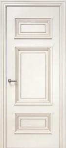 Межкомнатная дверь Геона Корсо 3, эмаль слоновая кость, патина шампань