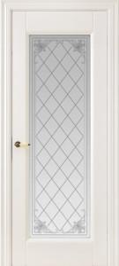 Межкомнатная дверь Геона Олимп, эмаль белая матовая, стекло сатинат гравировка