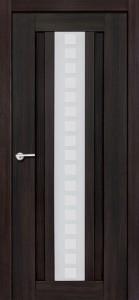 Дверь межкомнатная, Версаль 1  экошпон чёрный бархат, стекло матовое