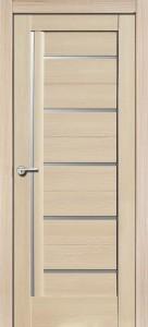 Межкомнатная дверь Дана, экошпон самшит белый, стекло матовое
