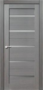 Межкомнатная дверь Модерн, экошпон амарант серый, стекло матовое