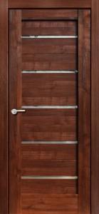 Межкомнатная дверь Модерн, экошпон памплона мелинга, стекло матовое