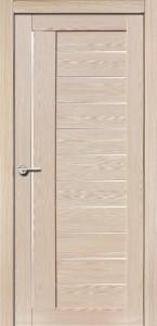 Межкомнатная дверь Палермо экошпон самшит белый, стекло матовое