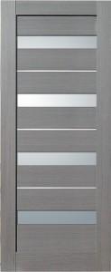 Межкомнатная дверь Сатурн, экошпон амарант серый, стекло матовое