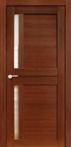 Межкомнатная дверь Соренто, экошпон памплона мелинга, стекло матовое