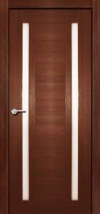 Межкомнатная дверь Стелла, экошпон памплона мелинга, стекло матовое