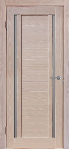 Межкомнатная дверь Стелла, экошпон самшит белый, стекло матовое