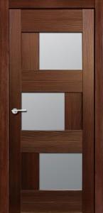 Межкомнатная дверь Эмилия, экошпон памплона мелинга, стекло матовое