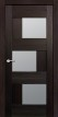 Межкомнатная дверь Эмилия, экошпон чёрный бархат, стекло матовое